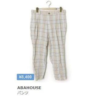 アバハウス(ABAHOUSE)の極美品 ABAHOUSE(アバハウス) チェックパンツ Lサイズ(ワークパンツ/カーゴパンツ)