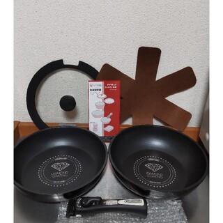 アイリスオーヤマ(アイリスオーヤマ)のアイリスオーヤマ IH用フライパン 炒めなべ ガラスぶた 敷きパッド ハンドル(鍋/フライパン)