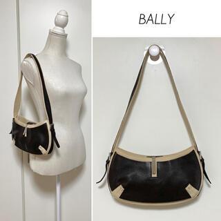 バリー(Bally)の【美品】BALLY キャンバス×本革 ワンショルダーバッグ(ショルダーバッグ)