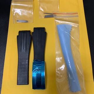 ロレックス(ROLEX)のラバーベルト 湾曲型 21mm  ロレックス対応 新品未使用(ラバーベルト)