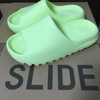 adidas - 27.5cm イージースライド YEEZYSLIDE  グローグリーン蛍光黄緑色