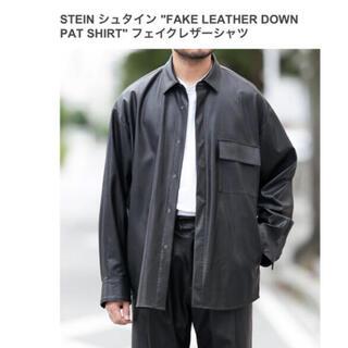 コモリ(COMOLI)のstein  シュタイン 21SS フェイクレザーシャツ(レザージャケット)