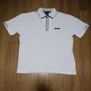 ダンロップ(DUNLOP)のダンロップ Mサイズ メンズポロシャツ 白 ホワイト ゴルフウェア スポーツ(ポロシャツ)