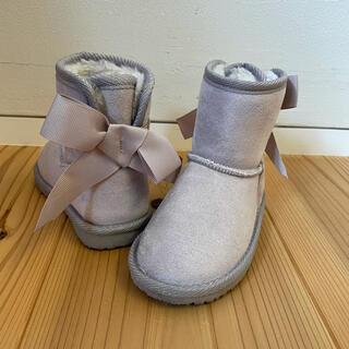 プティマイン(petit main)のpetit main プティマイン ムートンブーツ  14cm リボン(ブーツ)
