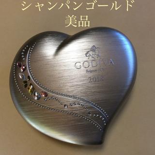 ゴディバ 空缶 ケース 2018 シャンパンゴールド ハート GODIVA(菓子/デザート)