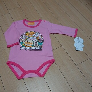 アンパンマン(アンパンマン)の80cmアンパンマン長袖肌着ピンク(肌着/下着)