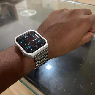 Apple Watch - アップルウォッチ カバー バンド ステンレス 44mm
