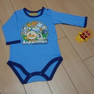 アンパンマン(アンパンマン)のMYY様専用80㎝アンパンマン長袖肌着ブルー・オレンジ(肌着/下着)