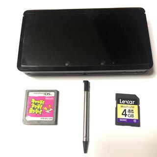 ニンテンドー3DS(ニンテンドー3DS)のNintendo 3ds ブラック + おまけセット(家庭用ゲーム機本体)