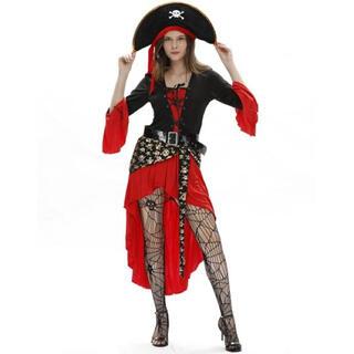 【新品】海賊 衣装 コスプレ ハロウィン パイレーツ カリブ 船長(衣装一式)