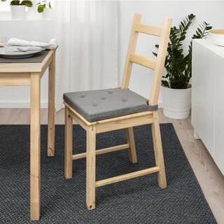 イケア(IKEA)のIKEA イケア チェアパッド 2枚 グレー 新品未使用(ダイニングチェア)