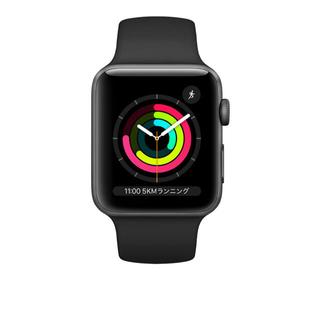 Apple Watch - AppleWatchSeries3GPSモデル38mmブラックスポーツバンド