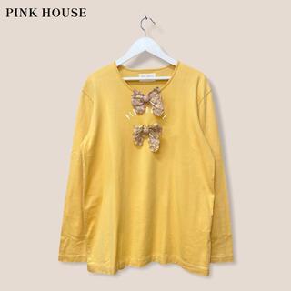ピンクハウス(PINK HOUSE)の【PINK HOUSE】チェックリボンTシャツ トップス ピンクハウス(カットソー(長袖/七分))