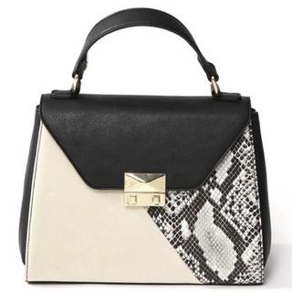 グレイル(GRL)のGRL 2way配色デザインハンドバッグ ブラック 人気 韓国ファッション(ハンドバッグ)