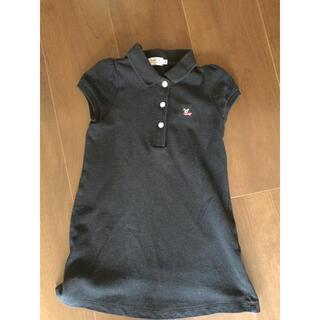ダブルビー(DOUBLE.B)のミキハウス ダブルビー  黒 ポロシャツ ワンピース 100 センチ(ワンピース)