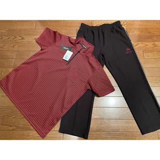 ダンロップ(DUNLOP)のDUNLOP ダンロップ ハーフジップシャツ&パンツセット Lサイズ(ウェア)