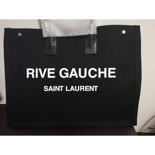 サンローラン(Saint Laurent)のSAINTLAURENT リブゴーシュ ブラック(トートバッグ)