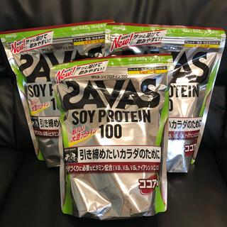 ザバス(SAVAS)のザバス(SAVAS) ソイプロテイン100  ココア味  945g×3袋セット(プロテイン)