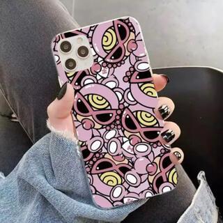 ヒステリックミニ(HYSTERIC MINI)のiPhone12 / 12PRO 6.1 テディ 総柄 ピンク ヒスミニ(iPhoneケース)