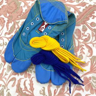ランニング足袋MUTEKI【きねや無敵】ブルー24.5cm 女性・子供 *箱なし(シューズ)