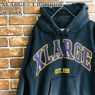 エクストララージ(XLARGE)のXLARGE Champion BIG LOGO PULLOVER HOODE(パーカー)