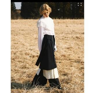 ルシェルブルー(LE CIEL BLEU)の【GW様專用】【IRENE】アイレネ ウール&キルティング レイヤード スカート(ロングスカート)