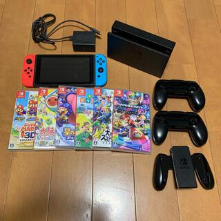 ニンテンドースイッチ(Nintendo Switch)の美品✨ Nintendo Switch 本体 ソフト付き セット(携帯用ゲーム機本体)