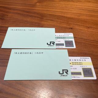 ジェイアール(JR)のJR東日本 東日本旅客鉄道 株主優待券 2枚セット(鉄道乗車券)
