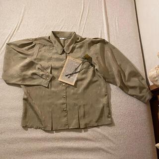 ロキエ(Lochie)のベージュ シャツ ブラウス レトロ(シャツ/ブラウス(半袖/袖なし))