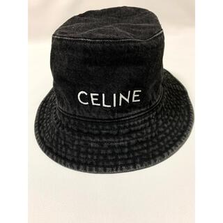 セリーヌ(celine)の新品【 CELINE セリーヌ 】デニム バケット ハット ブラック M(ハット)