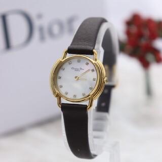 クリスチャンディオール(Christian Dior)の正規品【新品電池】ChristianDior/ダイヤ12P ホワイトシェル(腕時計)