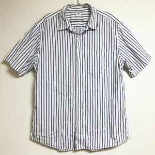 ユニクロ(UNIQLO)のUNIQLO ユニクロ メンズ 半袖 シャツ ワイシャツ Tシャツ ブルー 青色(シャツ)
