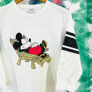 ロンハーマン(Ron Herman)のTEエンドレスサマー ミッキープリント七分袖Tシャツ M(Tシャツ/カットソー(七分/長袖))