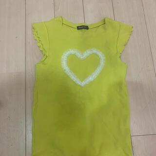 ムージョンジョン(mou jon jon)のトップス ハート 黄色 蛍光 キッズ(Tシャツ/カットソー)