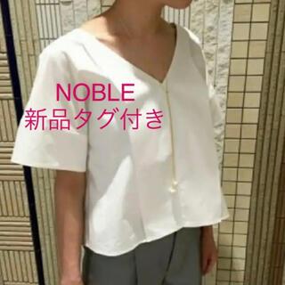 ノーブル(Noble)の【新品タグ付き】NOBLEタイプライターシャツ(シャツ/ブラウス(半袖/袖なし))