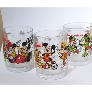 コカコーラ(コカ・コーラ)の【レトログラス】ディズニー 3種セット 80年代 コカコーラ(グラス/カップ)