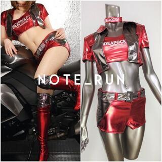 【trs】コスチューム RQ レースクイーン 衣装 赤・銀(衣装一式)