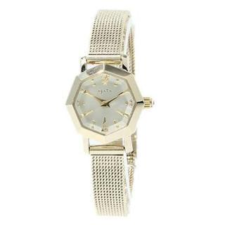 アガット(agete)のagete FIRST オクタゴン型 腕時計 イエローゴールド(腕時計)