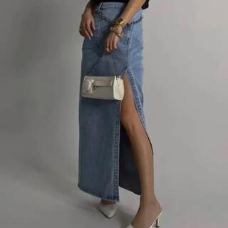ACLENT Side slit denim skirt Mサイズ(ロングスカート)