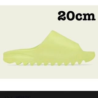 アディダス(adidas)のYEEZY SLIDE GLOW GREEN  KIDS GX6139 20cm(サンダル)