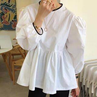 チェスティ(Chesty)のパイピングシャツ ホワイト(シャツ/ブラウス(長袖/七分))