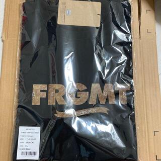 メディコムトイ(MEDICOM TOY)のサイズXL Bearbrick fragment 2021 FUR LOGO 黒(Tシャツ/カットソー(半袖/袖なし))