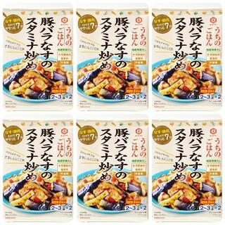 キッコーマン(キッコーマン)のキッコーマン うちのごはん 豚バラなすのスタミナ炒め 6袋(レトルト食品)