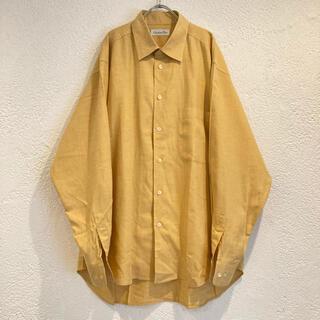 ディオール(Dior)のヴィンテージ Dior ドレスシャツ マスタードイエロー からし色 古着 90s(シャツ)