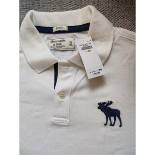 Abercrombie&Fitch - 【値下げ】abercrombie & fitch ポロシャツ 白 新品