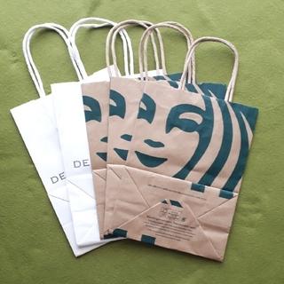 ディーンアンドデルーカ(DEAN & DELUCA)のディーンアンドデルーカ & スターバックスコーヒー ショップ袋 5枚(ショップ袋)