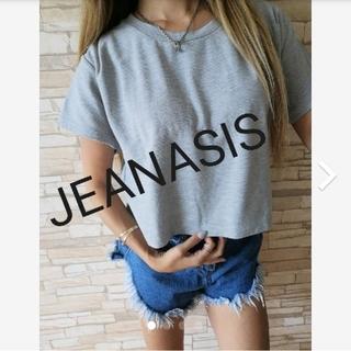 ジーナシス(JEANASIS)のショート丈リブトップス(Tシャツ(半袖/袖なし))