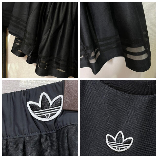 adidas(アディダス)のアディダスオリジナルス アシンメトリーT&スカート 黒 スポーツ/アウトドアのテニス(ウェア)の商品写真