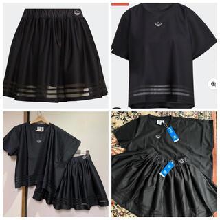 adidas - アディダスオリジナルス アシンメトリーT&スカート 黒