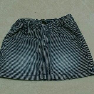 ブリーズ(BREEZE)のストライプ デニムスカート 110cm(スカート)